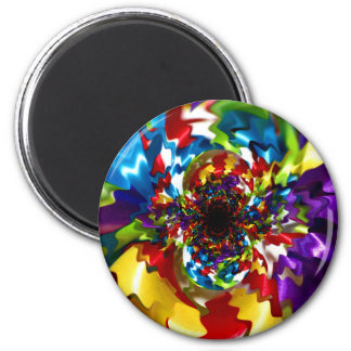 Spirals of Joy Kaleidoscope Fractal Art Magnet