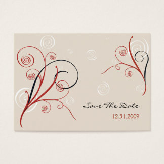 Spirals Save The Date MiniCard Business Card