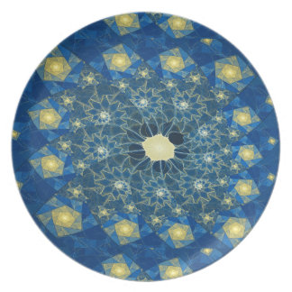Spirals Stained Glass Melamine Plate