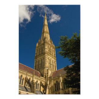 Spire of Salisbury Cathedral Art Photo