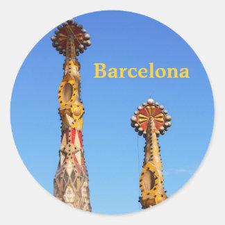 Spires of Sagrada Familia Classic Round Sticker