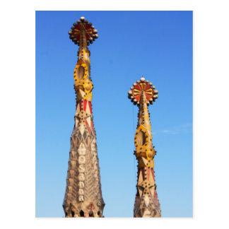 Spires of Sagrada Familia Postcard