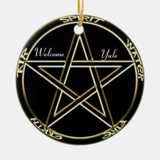 Spirit, Air, Fire Pentagram Tree Ornament