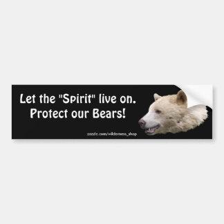Spirit Bear Kermodei Wildlife Supporter Stickers Bumper Sticker
