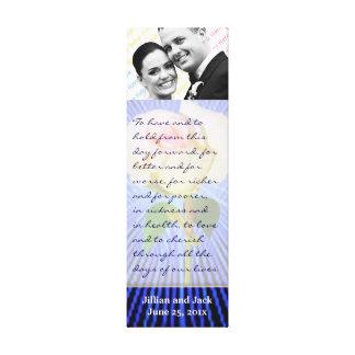 Spirit Circle Rose WEDDING Vows Display Canvas Print