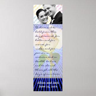 Spirit Circle Rose WEDDING Vows Display Poster