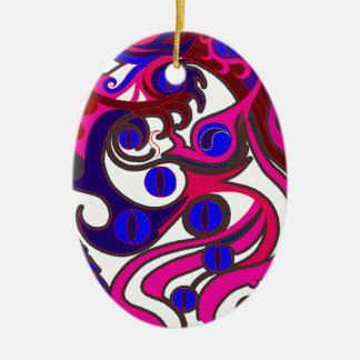 Spirit Dragon (Psychedelic) Christmas Ornament
