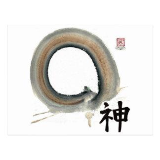 Spirit Enso, Kanji for spirit Postcard
