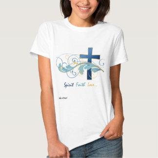 Spirit Faith Love Ladies Basic T/Baby Doll - White T-shirts