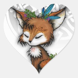 Spirit Fox Heart Sticker