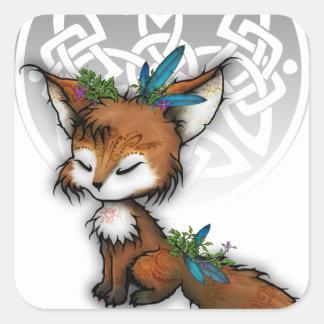 Spirit Fox Square Sticker