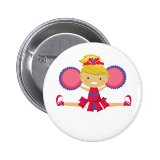 Spirit Girl Cheerleader 6 Cm Round Badge