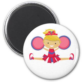 Spirit Girl Cheerleader 6 Cm Round Magnet