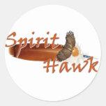 Spirit Hawk Round Sticker