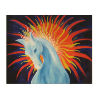 Spirit Horse Wood Wall Panel Wood Canvases