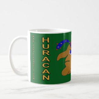 SPIRIT HURACAN- GREEN BACKGROUND- MAYAN GOLD COAST COFFEE MUG