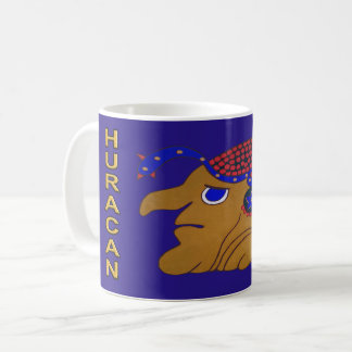 SPIRIT HURACAN- MIDNIGHT BLUE- MAYAN GOLD COAST COFFEE MUG
