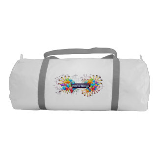 Spirit is Present duffle gym bag Gym Duffel Bag