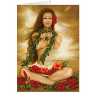 Spirit of Aloha by fine artist Lori Higgins. Card
