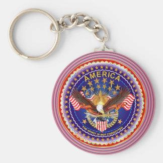 Spirit of America Round Only Key Chain