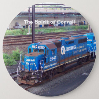 Spirit of Conrail - GP38 - PRR #2943 in Blue Paint 6 Cm Round Badge