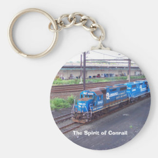 Spirit of Conrail - GP38 - PRR #2943 in Blue Paint Basic Round Button Key Ring