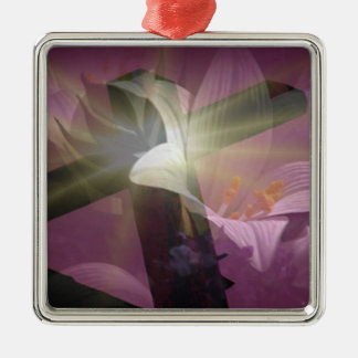 Spirit of Easter Silver-Colored Square Decoration
