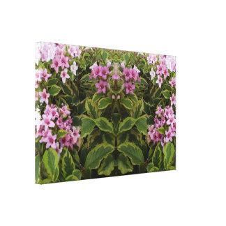Spirit of Plant 741 mirror trim Pink Bush Canvas Print