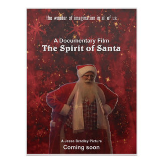 Spirit of Santa Movie Poster 18 by 24 copy