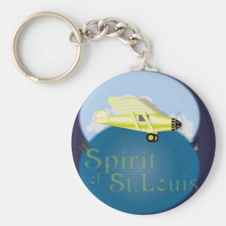 Spirit of St. Louis Basic Round Button Key Ring