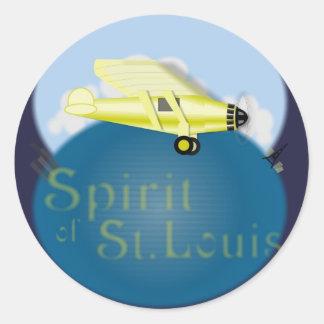 Spirit of St. Louis Round Sticker