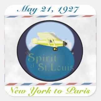 Spirit of St. Louis Square Sticker