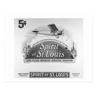 Spirit of St. Louis Vintage Cigar Box Label Post Card