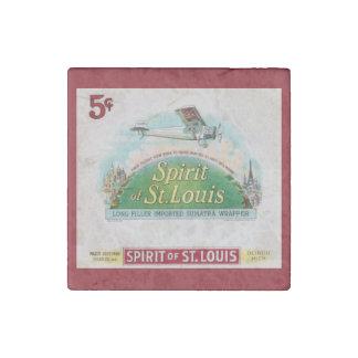 Spirit of St. Louis Vintage Cigar Label Stone Magnet