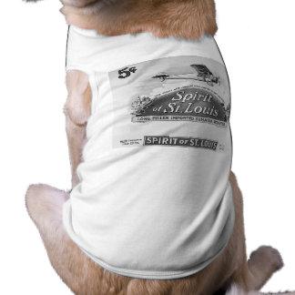Spirit of St. Louis - Vintage Cigar Wrapper Sleeveless Dog Shirt