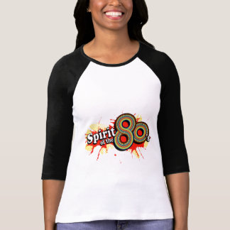 """Spirit of the 80's"" ladies multi-colour logo tee"