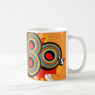 """Spirit of the 80's"" orange logo retro mug"