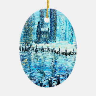 Spirit of the city christmas ornament