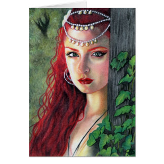 Spirit of the forest lady greeting card