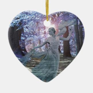 Spirit of the Glen Ceramic Heart Decoration