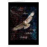 Spirit of the Hawk - Original Digital Collage Card