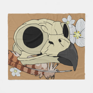 Spirit of the Horned Owl Fleece Blanket