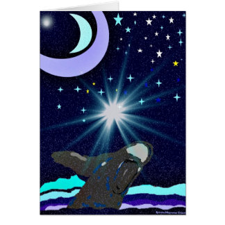 Spirit of the Humpback Whale Moon greeting card