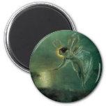 Spirit of the Night by Grimshaw, Victorian Fairy 6 Cm Round Magnet