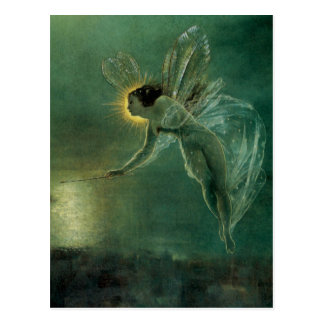Spirit of the Night by Grimshaw Victorian Fairy Postcards