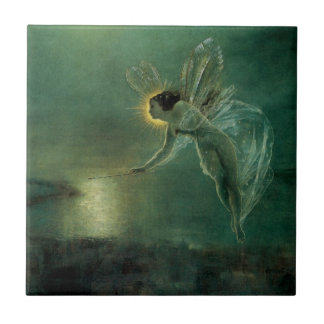Spirit of the Night by Grimshaw, Victorian Fairy Small Square Tile