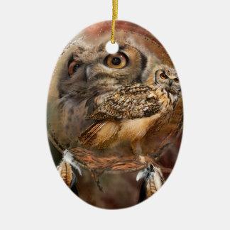 Spirit Of The Owl Art Ornament