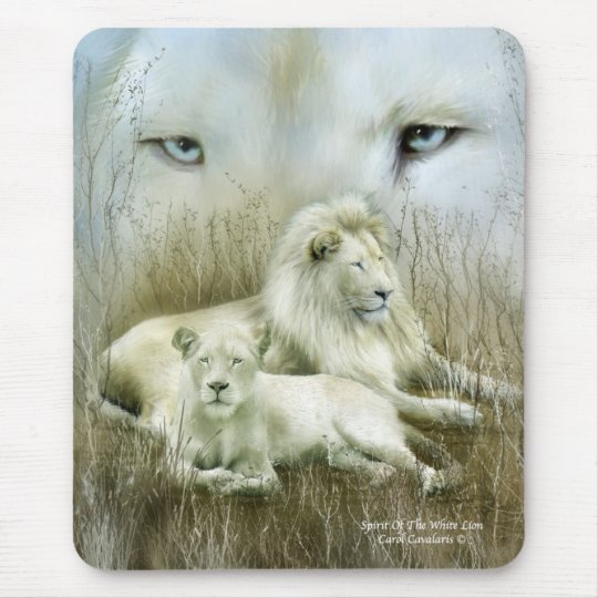 Spirit Of The White Lions Mousepad