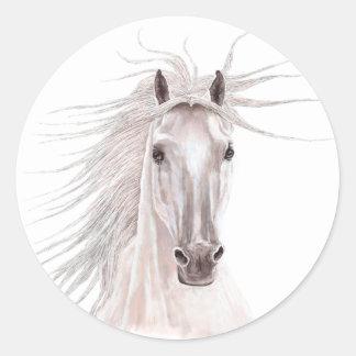Spirit of the Wind Horse -vintage- Classic Round Sticker