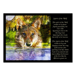 Spirit of the Wolf Large Business Cards (Pack Of 100)